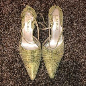 pointed toe snake print heels 🐍